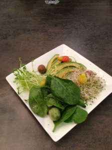 Avacado with Greens
