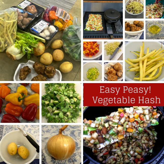 Easy Peasy! Vegetable Hash